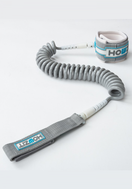 Leash Coiled SUP 9' - Silver / White